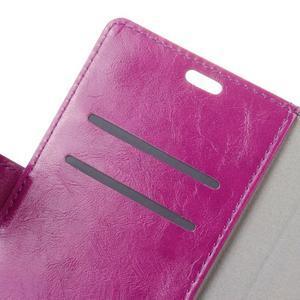 Horse PU kožené puzdro pre mobil Lenovo K5 Note - fialové - 6