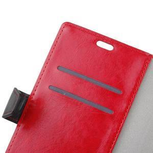 Colory knížkové puzdro pre Lenovo K5 Note - červené - 6