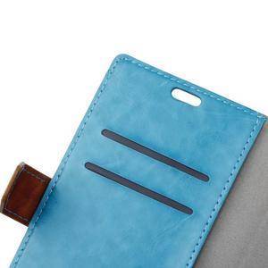 Colory knížkové puzdro pre Lenovo K5 Note - modré - 6