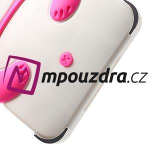 3D Silikonové puzdro na iPad mini 2 - ružová panda - 6