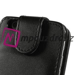 Kožené flipové puzdro na iPhone 6, 4.7 - čierné - 6