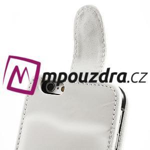 Kožené flipové puzdro na iPhone 6, 4.7 - biele - 6