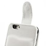Kožené flipové puzdro pre iPhone 6, 4.7 - biele - 6/7