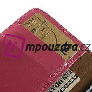 Peňaženkové kožené puzdro na iPhone 6, 4.7 - růžové - 6