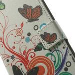 Peňaženkové puzdro pre Samsung Galaxy Note 4- farebné motýle - 6/7