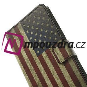 Peňaženkové puzdro pre Samsung Galaxy Note 4- USA vlajka - 6