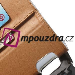Peňaženkové  kožené puzdro na Samsung Galaxy Note 4- biele - 6