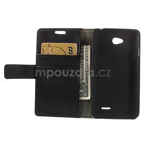 Peňaženkové puzdro pre LG L65 D280 - čierné - 6