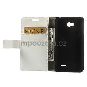 Peňaženkové puzdro pre LG L65 D280 - biele - 6
