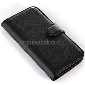 Peňaženkové puzdro pre Alcatel One Touch Idol Alpha 6032 A - čierné - 6