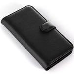 Peňaženkové puzdro pre Alcatel One Touch Idol Alpha 6032 A - čierné - 6/6