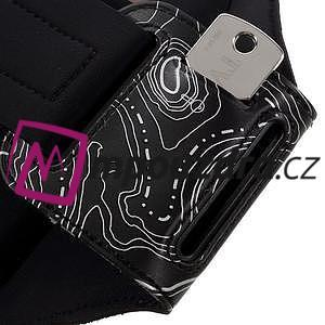 RX7 LED svietiace športové puzdro na ruku pre telefony do 165*85 mm - čierne - 6