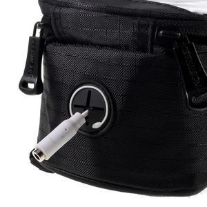 Prostorná brašna na kolo pro mobilní telefony do rozměru 158,1 x 78 x 7,1 mm - černá - 6