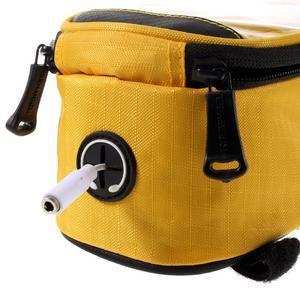 Prostorná brašna na kolo pro mobilní telefony do rozměru 158,1 x 78 x 7,1 mm - žlutá - 6