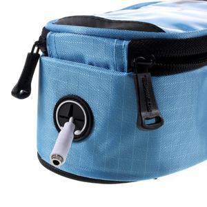 Prostorná brašna na kolo pro mobilní telefony do rozměru 158,1 x 78 x 7,1 mm - modrá - 6