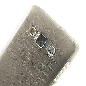 Broušené puzdro na Samsung Galaxy A3 - šedá - 6