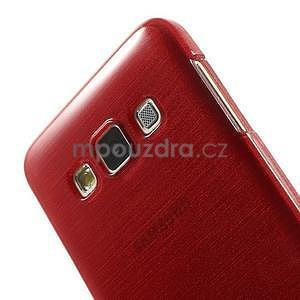 Broušené puzdro na Samsung Galaxy A3 - červená - 6