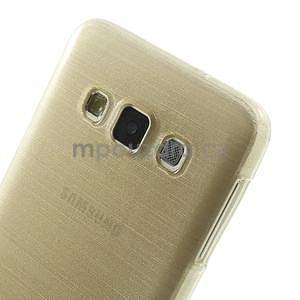 Broušené puzdro na Samsung Galaxy A3 - zlatá - 6