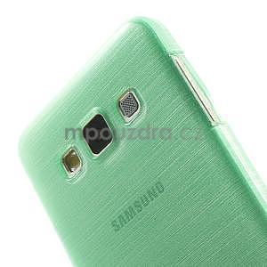 Broušené puzdro na Samsung Galaxy A3 - světle zelená - 6