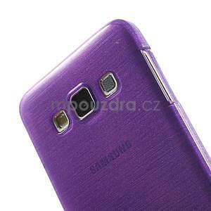 Broušené puzdro na Samsung Galaxy A3 - fialová - 6