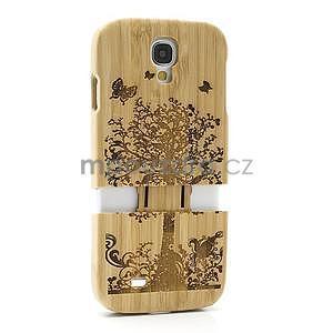 Dřevené pouzdro rozepínací na Samsung Galaxy S4 - stromeček - 6