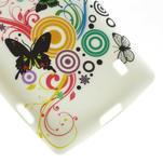 Gélové puzdro na Nokia Lumia 520- farebné motýlci - 6/6