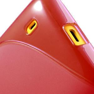 Gélové S-line puzdro na Nokia Lumia 520- červené - 6