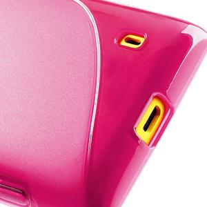 Gélové S-line puzdro na Nokia Lumia 520- růžové - 6