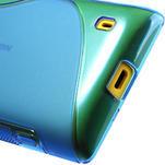 Gélové S-line puzdro na Nokia Lumia 520- modré - 6/6