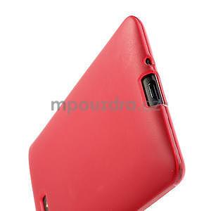 Gélové matné puzdro pre HTC Desire 600- červené - 6