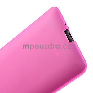 Gélové matné puzdro pre HTC Desire 600- ružové - 6