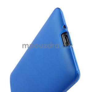 Gélové matné puzdro pre HTC Desire 600- modré - 6