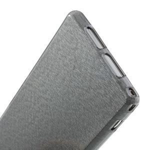 Kartáčované puzdro pre Sony Xperia Z1 C6903 L39- sivé - 6
