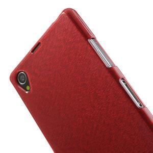 Kartáčované pouzdro na Sony Xperia Z1 C6903 L39- červené - 6
