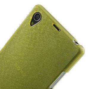 Kartáčované puzdro pre Sony Xperia Z1 C6903 L39- zelené - 6