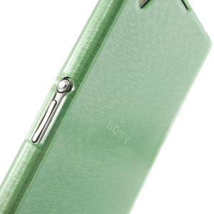Kartáčované puzdro pre Sony Xperia Z1 C6903 L39- zelenomodré - 6