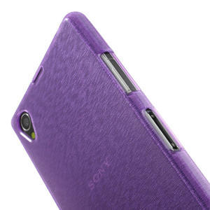Kartáčované puzdro pre Sony Xperia Z1 C6903 L39- fialové - 6