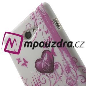 Gélové puzdro na Sony Xperia M2 D2302 - dvě srdce - 6