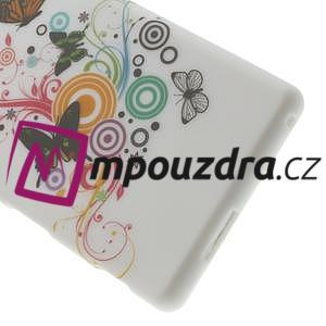 Gélové puzdro pre Sony Xperia M2 D2302 - farební motýľe - 6