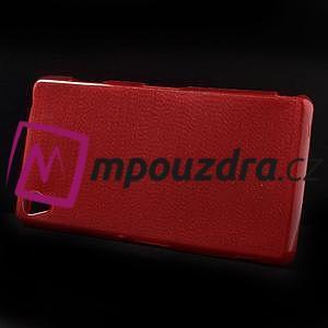 Gélové kartáčové puzdro pre Sony Xperia Z3 D6603 - červené - 6