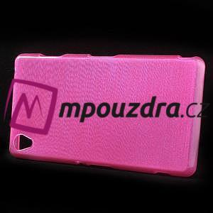 Gelové kartáčové pouzdro na Sony Xperia Z3 D6603 - růžové - 6