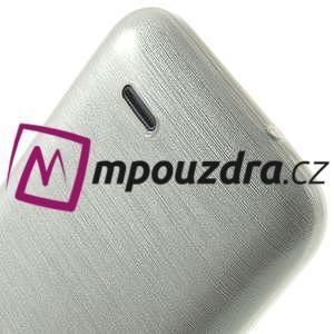 Gélové kartáčované puzdro na HTC Desire 310- biele - 6