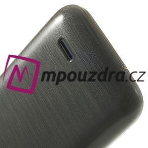 Gélové kartáčované puzdro na HTC Desire 310- šedé - 6