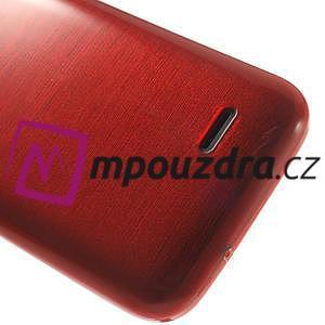 Gélové kartáčované puzdro na HTC Desire 310- červené - 6