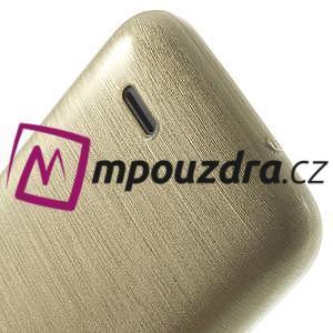 Gélové kartáčované puzdro na HTC Desire 310- zlaté - 6