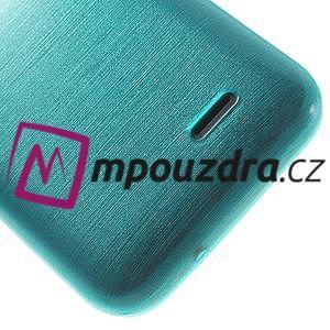 Gélové kartáčované puzdro na HTC Desire 310- modré - 6