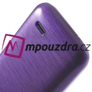 Gélové kartáčované puzdro na HTC Desire 310- fialové - 6