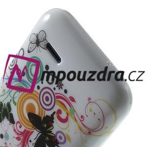 Gélové puzdro na HTC Desire 310- farebné motýlci - 6