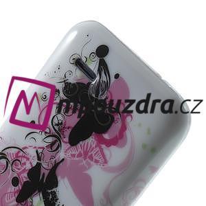 Gélové puzdro pre HTC Desire 310- motýľ kvet - 6