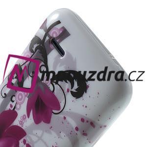 Gélové puzdro na HTC Desire 310- fialový květ - 6